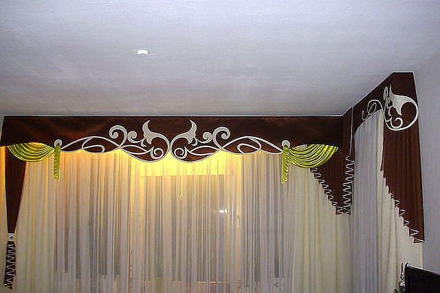 Дизайн бандо для штор з фото