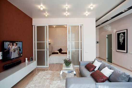 Дизайн однокімнатної квартири 30 кв.м: фото в сучасному стилі