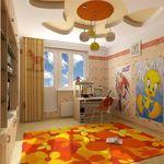 Інтер`єр дитячої кімнати в типовій квартирі