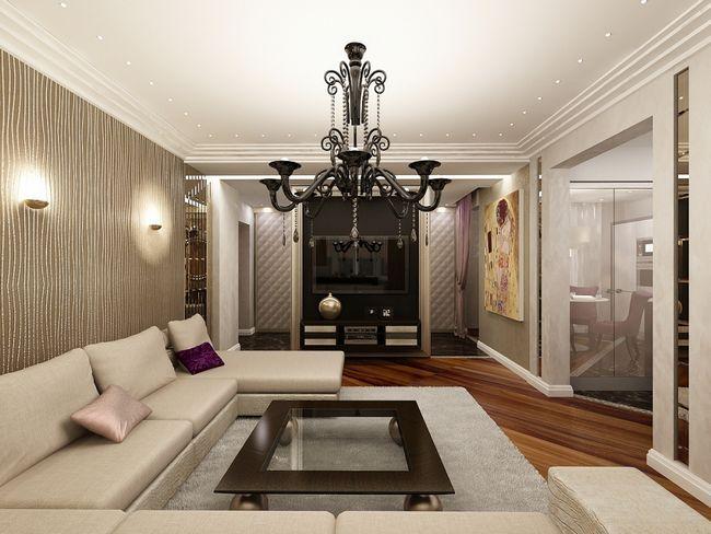 Інтер`єр залу або вітальні в сучасному стилі (фото)