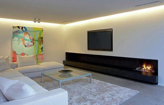 Каміни в інтер`єрі вітальні в міській квартирі: фото, дизайн