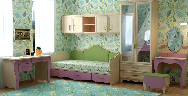 Шпалери для дитячої кімнати для дівчаток: фото в інтер`єрі