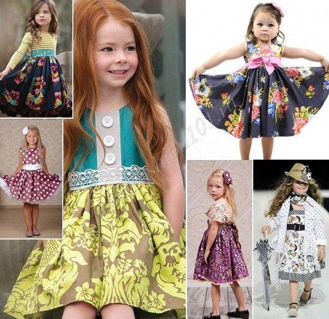 Дитячі сукні в стилі стиляг для дівчинки фото