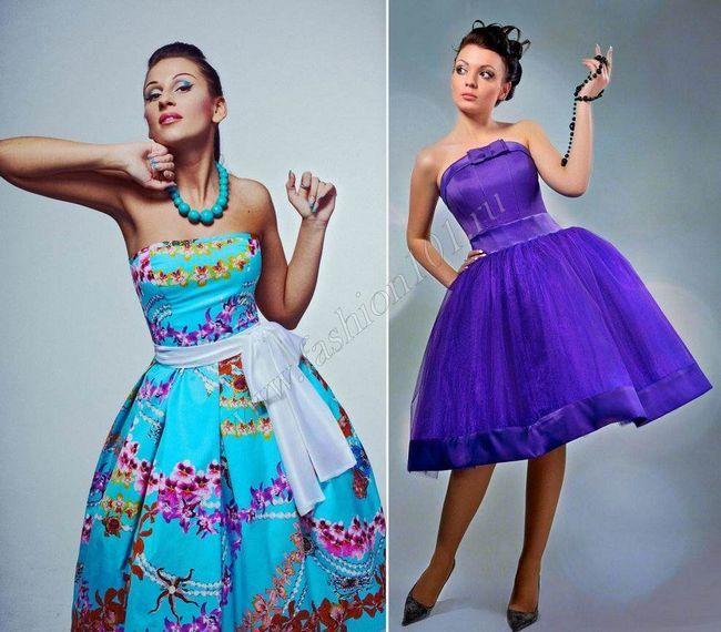 Плаття в стилі стиляг на випускний