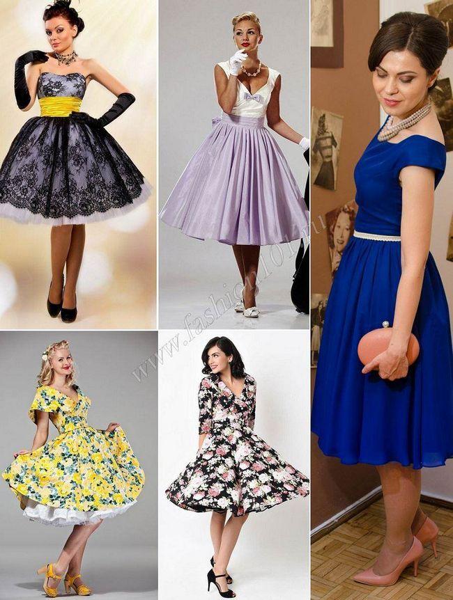 Сукня у стилі стиляг по фігурі