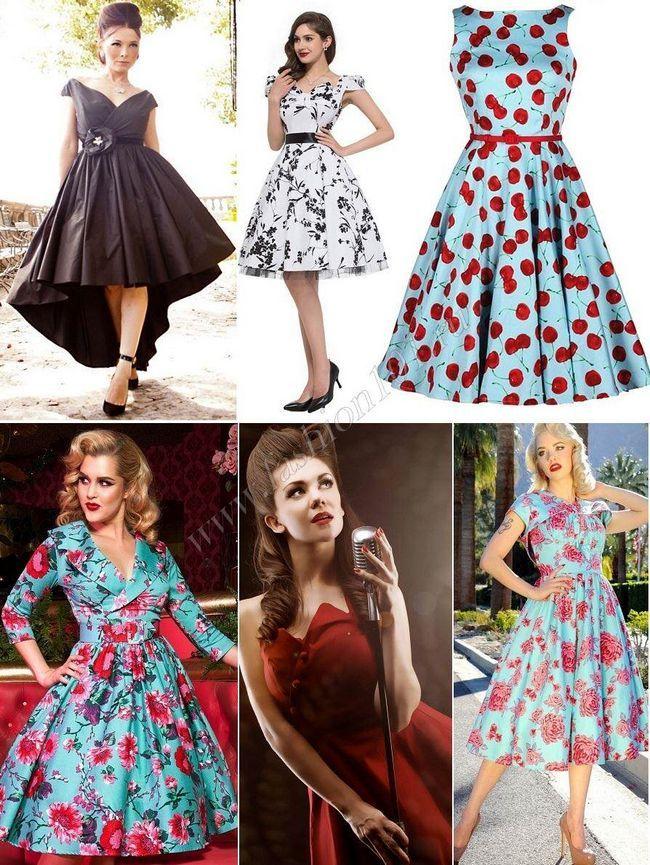 Сукня у стилі стиляг на випускний