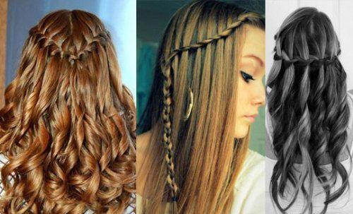 Зачіска водоспад - жіночність в кожному пасмі