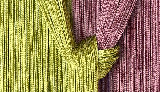 Штори нитки в інтер`єрі. Фото кісей і дизайн