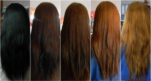 Змивка чорної фарби з волосся