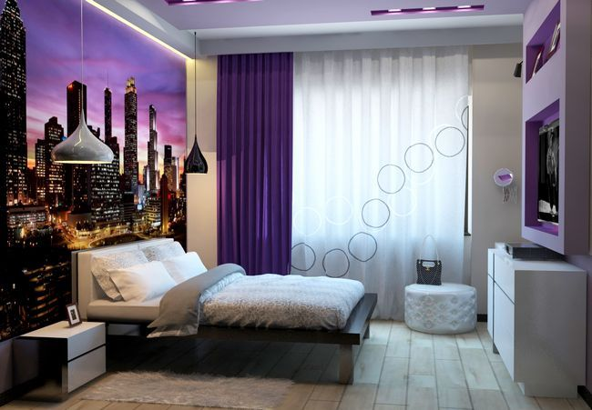 Затишний дизайн кімнати для дівчини в сучасному стилі