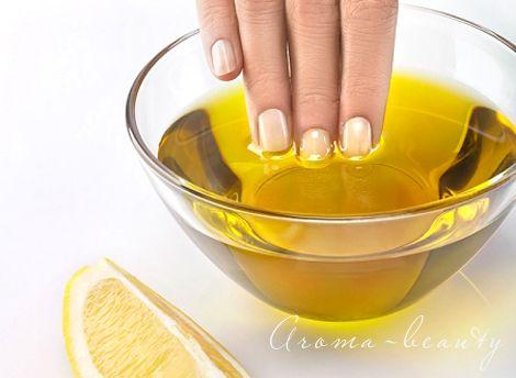 зміцнення нігтів лимоном і оливковою олією