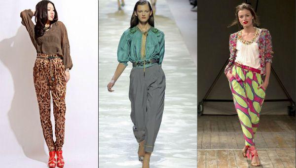 Жіночі брюки банани: модні фасони з фото