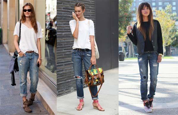 Жіночі джинси бойфренди - фото модних трендів